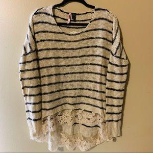 Love by Design  stripe sweater size M